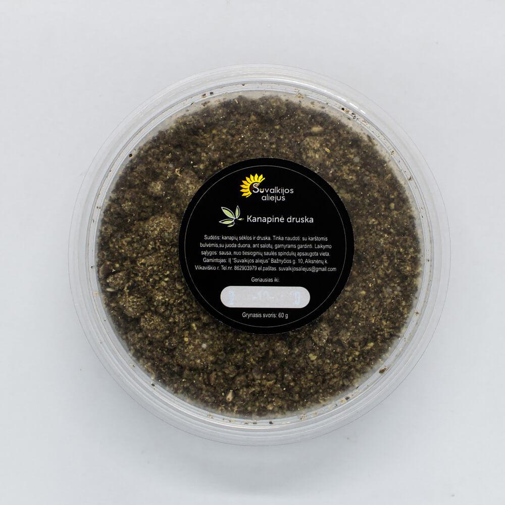 Kanapinė druska, 60 g.