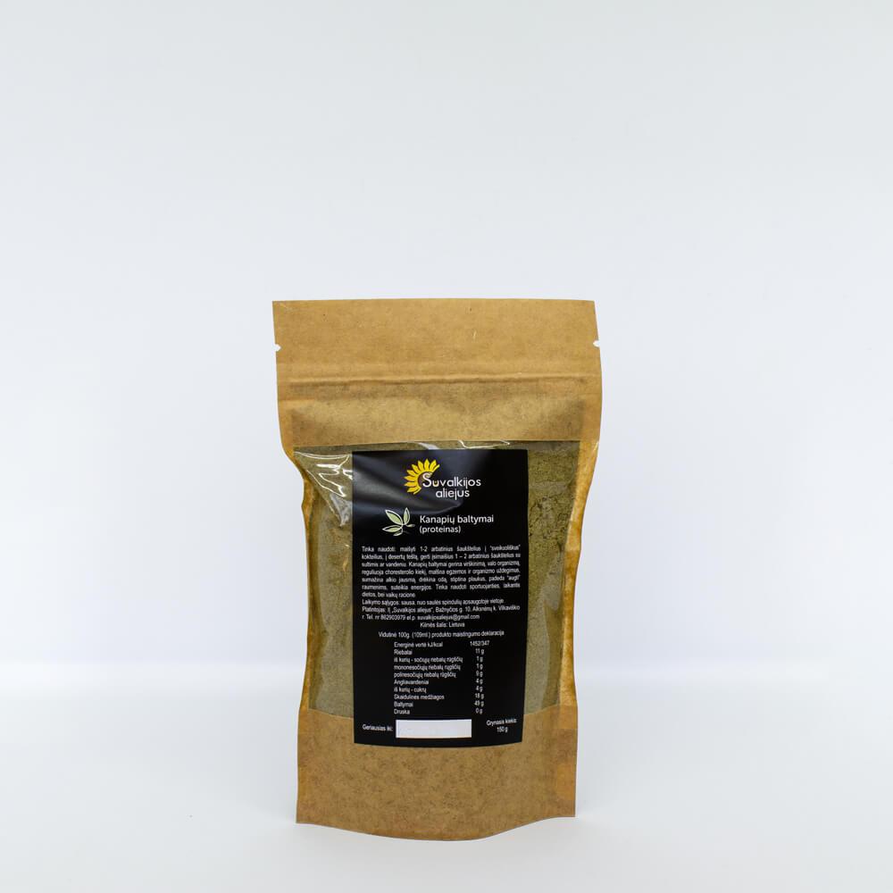 Kanapių baltymai (proteinas), 150 g.
